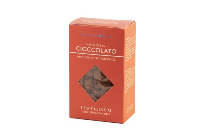 Mandorle con cioccolato tartufate al cacao amaro da agricoltura biologica